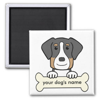 Personalized Greater Swiss Mountain Dog 2 Inch Square Magnet