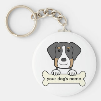 Personalized Greater Swiss Mountain Dog Basic Round Button Keychain
