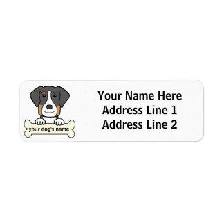 Personalized Greater Swiss Mountain Dog Return Address Label