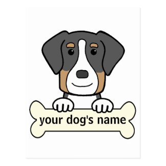 Personalized Greater Swiss Mountain Dog Postcard
