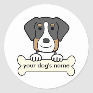 Personalized Greater Swiss Mountain Dog Round Stickers