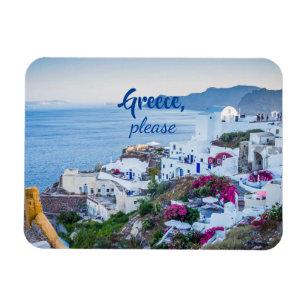 Greek Island House Magnet