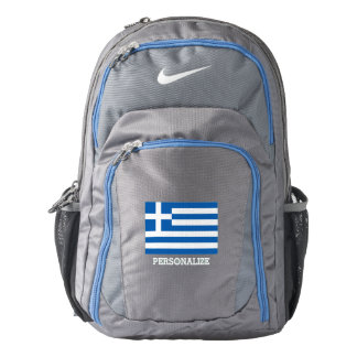 Personalized Greek flag custom Nike backpack