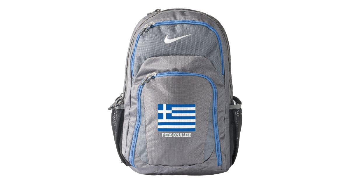 f355b36b99f7 Personalized Greek flag custom Nike backpack