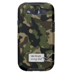 Personalized Green and Brown Jungle Military Camo Samsung Galaxy S3 Covers