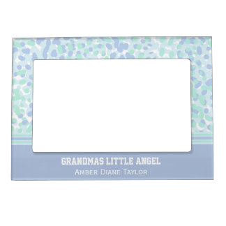 Personalized Green And Purple Magnetic Frame