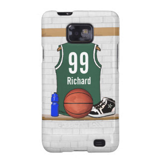Personalized Green and White Basketball Jersey Galaxy SII Cover