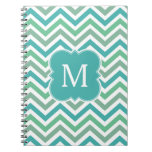 Personalized Green Aqua Olive Monogram Notebook