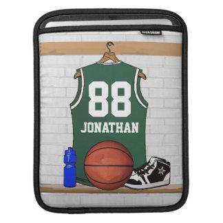Personalized Green Basketball Jersey iPad Sleeve