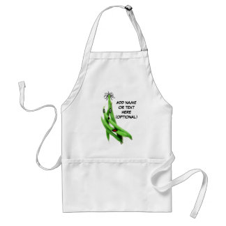 Personalized Green Bean Cartoon Adult Apron