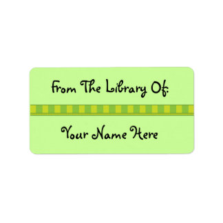 Personalized Green Bookplate Library Stickers Address Label