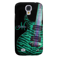 Personalized Green Electric Guitar Samsung Case Samsung Galaxy S4 Cover
