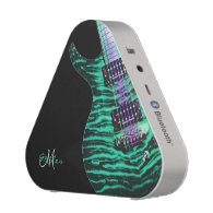 Personalized Green Electric Guitar Speaker
