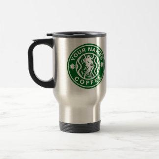 Personalized Green Emblem Logo Coffee Shop Mug