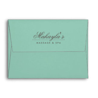 Personalized Green Envelopes