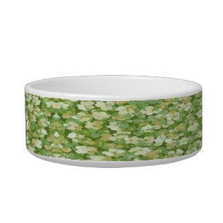 Personalized Green Garden Pet Bowl