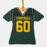 Personalized Green/Gold Football Jersey 60 V1 Ornaments