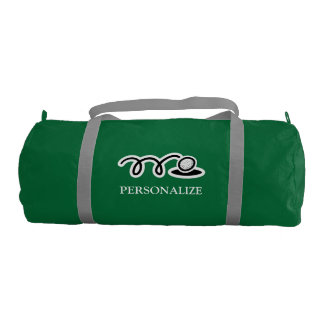 Personalized green golf bag for player and coach