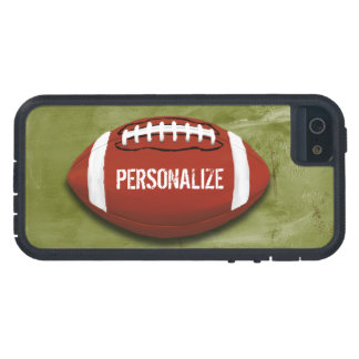 Personalized Green Grunge Football iPhone 5 Cases