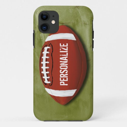 Personalized Green Grunge Football Phone Case