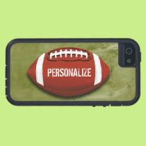 Personalized Green Grunge Football iPhone SE/5/5s Case