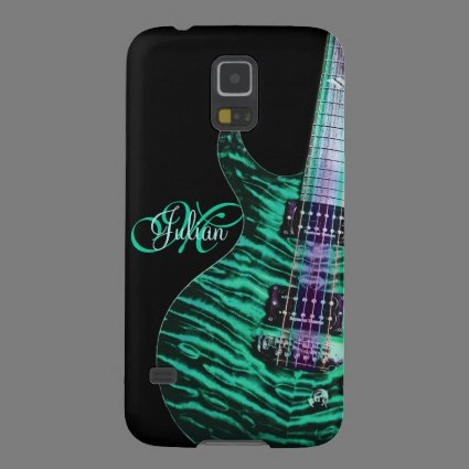 Personalized Green Guitar Music Galaxy S5 Case