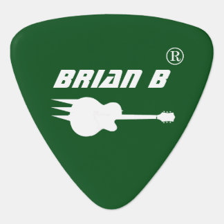 personalized green guitar pick for rockers