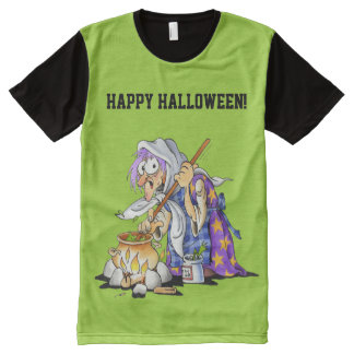 Personalized Green Happy Halloween T-Shirt For Men
