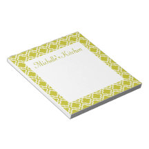 Personalized Green Kitchen Notepad