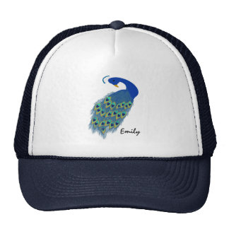 Personalized Green Peacock Designs Trucker Hat