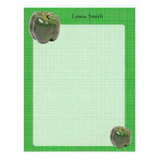Personalized Green Peppers Letterhead