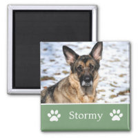 Personalized  Green Pet Photo Magnet