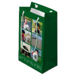 Personalized Green Photo Mosaic Picture Collage Small Gift Bag