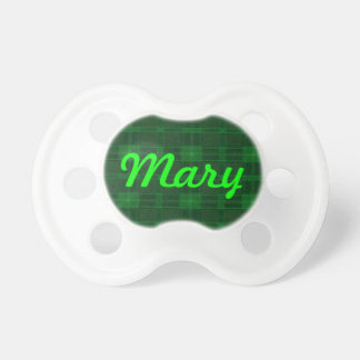 Personalized Green Plaid Pacifier