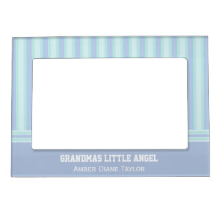 Personalized Green / Purple Striped Magnetic Frame