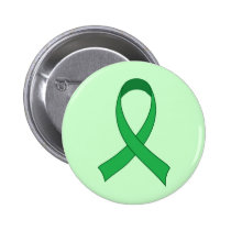 Personalized Green Ribbon Awareness Gift 2 Inch Round Button