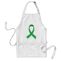 Personalized Green Ribbon Awareness Gift Adult Apron