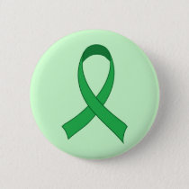 Personalized Green Ribbon Awareness Gift Button