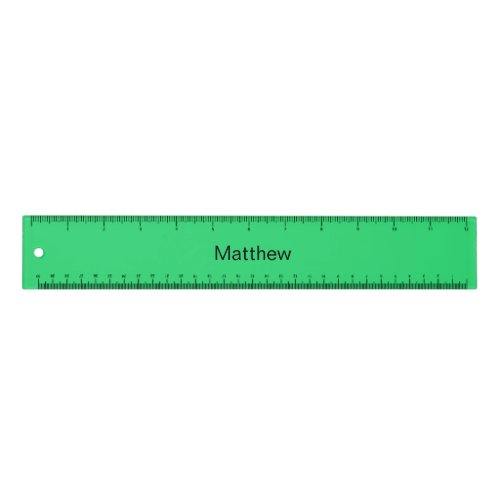 Personalized green ruler