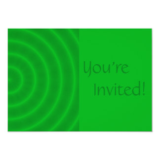 Personalized Green Spiral Birthday Party Card