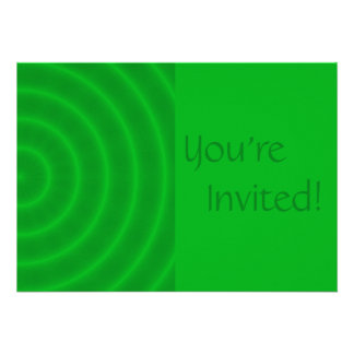 Personalized Green Spiral Birthday Party Custom Invitations