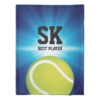 Personalized | Green Tennis Ball Duvet Cover