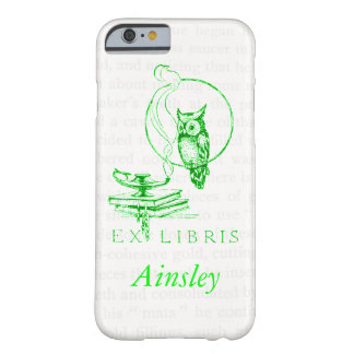 Personalized Green Vintage Owl Collage Barely There iPhone 6 Case