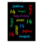 Personalized Greeting Card, 14th Birthday Card