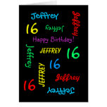 Personalized Greeting Card, 16th Birthday Greeting Card