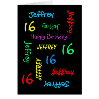 Personalized Greeting Card, 16th Birthday