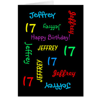Personalized Greeting Card, 17th Birthday Card