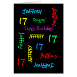 Personalized Greeting Card, 17th Birthday Greeting Card