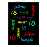 Personalized Greeting Card, 18th Birthday