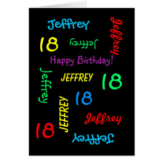 Personalized Greeting Card, 18th Birthday Greeting Card